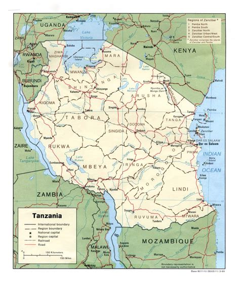 map of tanzania tanzania maps perry casta 241 eda map collection ut library