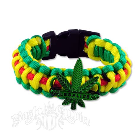 rasta legalize paracord bracelet rastaempire