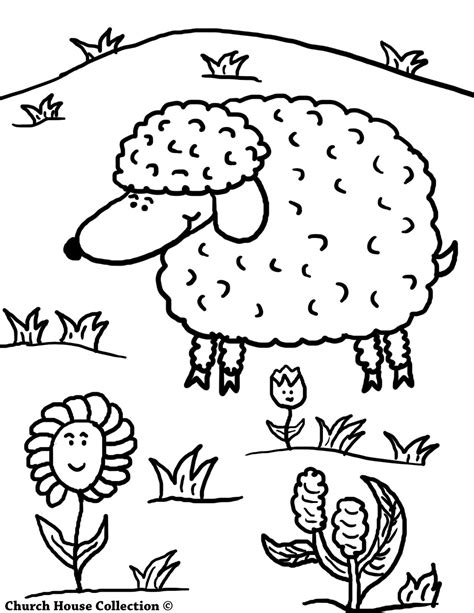 coloring page jesus with sheep sheep coloring pages for sunday school