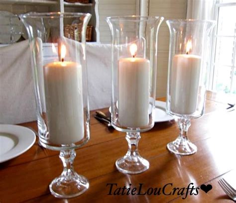 candle centerpieces table set of 10 13 quot clear glass wedding centerpieces table