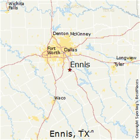 map of ennis texas best places to live in ennis texas