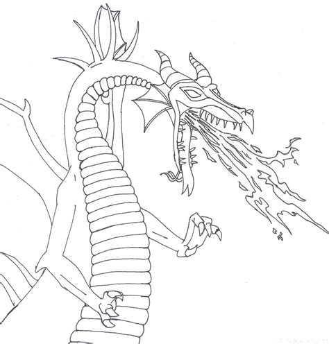 Maleficent Dragon Coloring Page | maleficent dragon coloring pages sketch coloring page