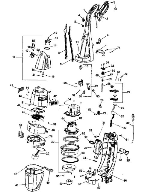 hoover floormate parts diagram hoover h3000 vacuum repair parts diagrams