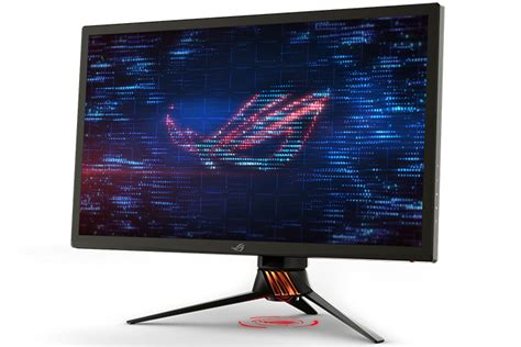 Monitor Gaming 4k the rog pg27uq gaming monitor pushes 4k to 144hz with quantum dots and hdr edge up