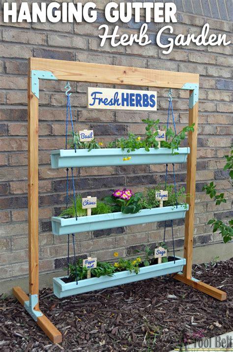 hanging gutter planter  stand  tool belt