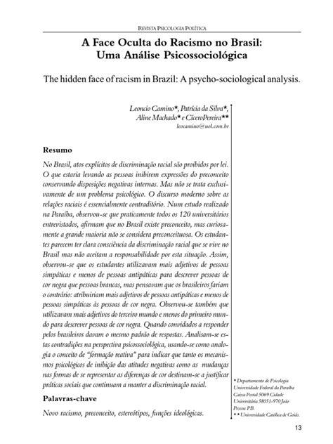A Face Oculta Do Racismo No Brasil | Racismo | Etnia, raça