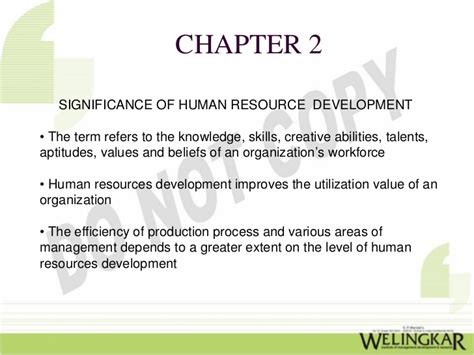 Human Resource Development Notes For Mba by Human Resource Development
