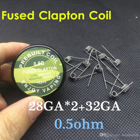Prebuilt Coil Mix Twisted Wire 0 2 0 8 26ga 0 45ohm 10pcs premade flat twisted wire fused clapton coils hive coils mix twisted tiger coils