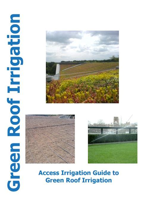 design guidelines for green roofs green roof irrigation systems intensive green roof systems