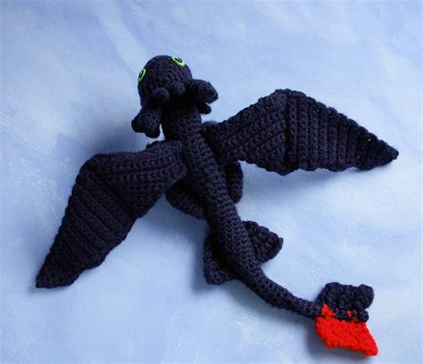 amigurumi pattern toothless amigurumi doll of toothless from httyd by tinyalchemy on