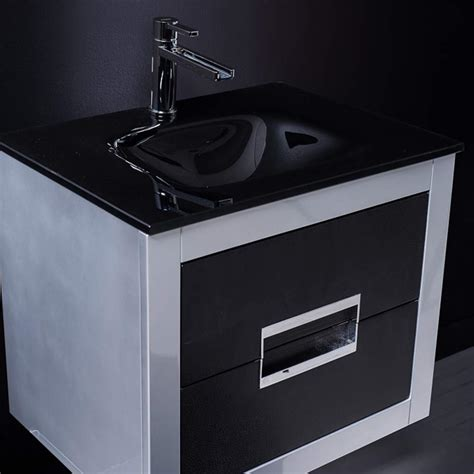 Silver Bathroom Vanity Danya Silver And Black Modern Bathroom Vanity