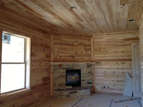 reclaimed wood walls  ceiling  texas wood