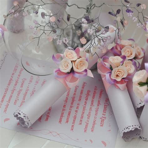 Wedding Invitation Card Roll by Wedding Invitation Greeting Card Roll In Pink Scr004