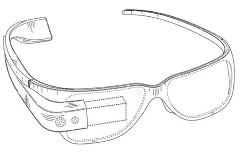design of google glass google glasses design patent drawing