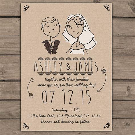 Hochzeitseinladung Zeichnung by Wedding Invitation Custom Portrait By Anietillustration On