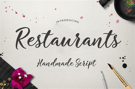 Handmade Fonts Free - restaurants script font befonts