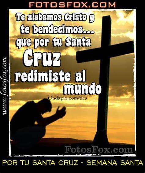 imagenes con frases cristianas semana santa santa tu cruz por tu santa cruz semana santa im 225 genes