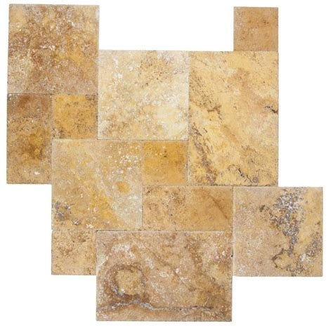 french pattern gold travertine tile travertine gold pavers and tiles french pattern