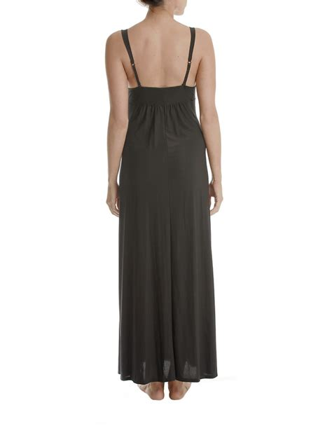 knit nightgowns in bloom knit nightgown in black lyst