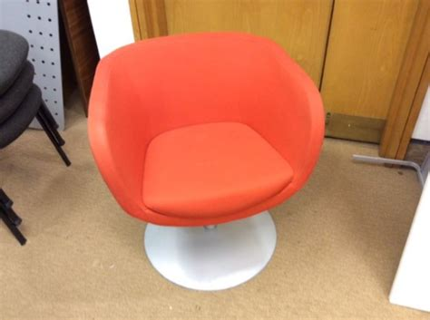orange swivel tub chair orange swivel tub chairs second office furniture