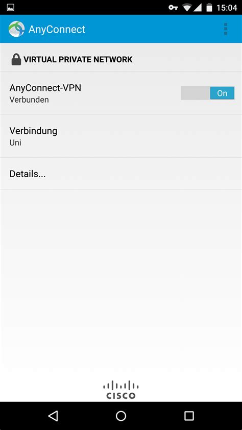 cisco anyconnect android android 6 x vpn mit cisco anyconnect konfigurieren hochschulrechenzentrum