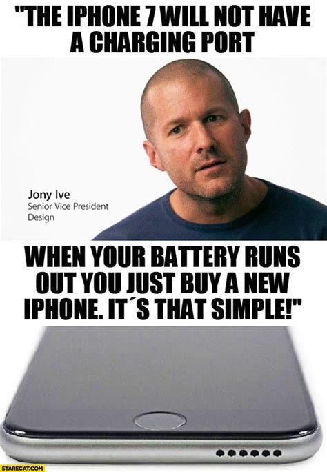 New Iphone Meme - the iphone 7 will not have a charging port when your