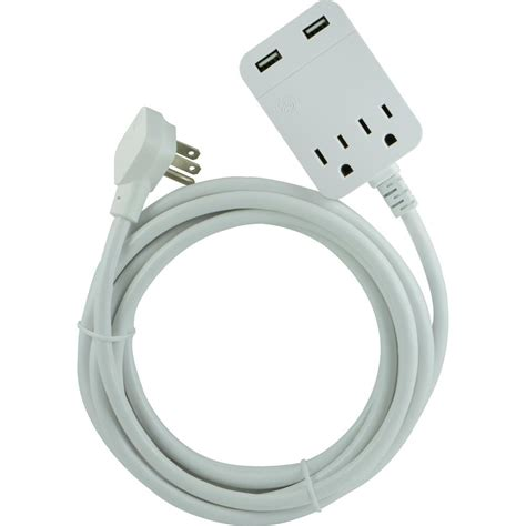 Neil Usb Extension At Your Service by Ge 8 Ft 2 Outlet 2 Usb Extension Cord With Surge