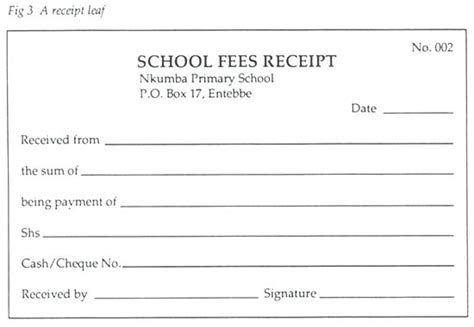 free tuition receipt template school fee receipt format school fees receipt printable