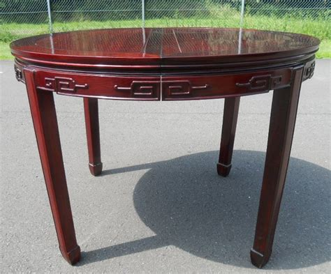 extending dining table eight matching dining chairs