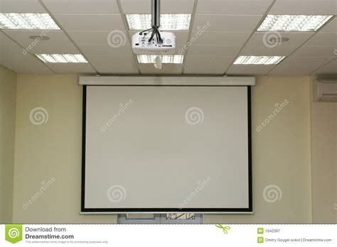 Interior Design Web App projection screen in the boardroom with overhead projector