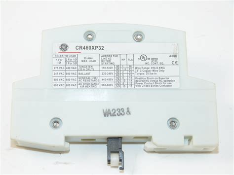 ge cr460xp32 power pole 2 pole for lighting contactor walmart