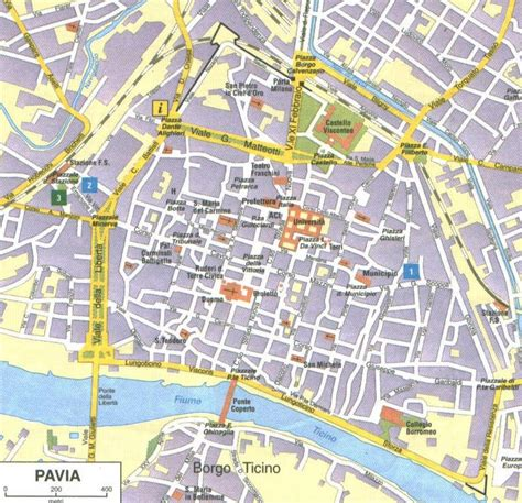 cartina pavia map of pavia