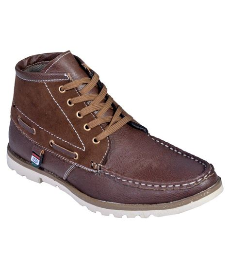 shoes deals altek brown smart casuals shoes snapdeal price casual