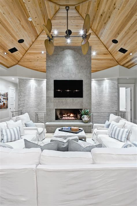 slipcovered sectionals cottage living room beach