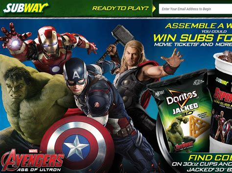Doritos Sweepstakes 2015 - subway where super heroes eat instant win game code required sweepstakes fanatics