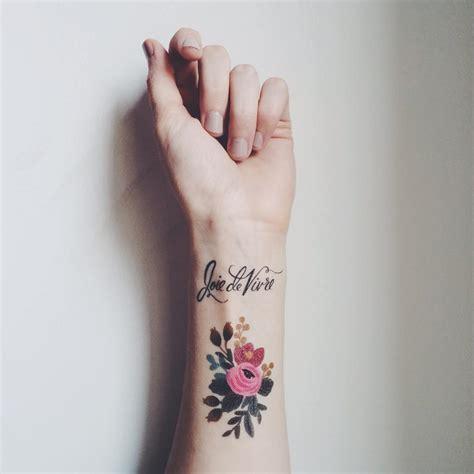 fake wrist tattoos flowers meandyoulookbook