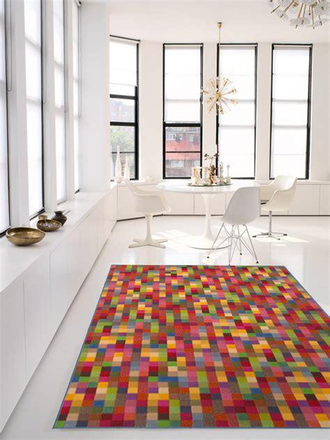 teppich frechen benuta velours teppich funky quadrate bunt multicolor neu