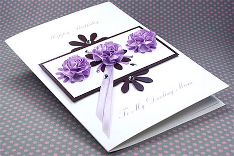 Luxury Handmade Birthday Cards - luxury birthday card quot three lilac roses quot