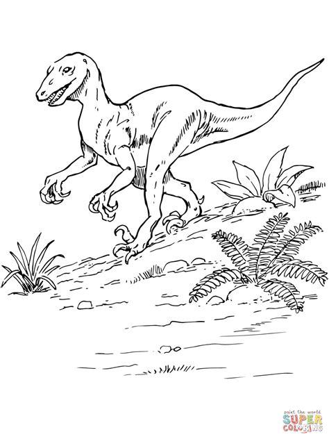 deinonychus dinosaur coloring page free printable