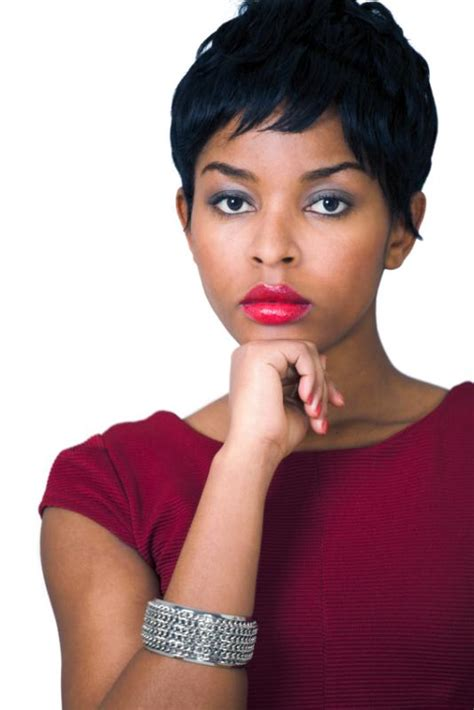 pictures of pixie haircuts on relaxed black hair short black hair style pictures