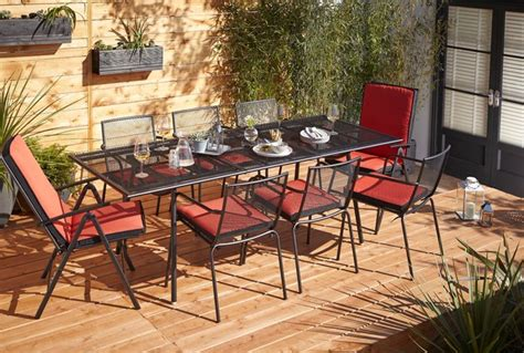 B Q Patio Dining Sets Adelaide Metal Garden Furniture Set Contemporary