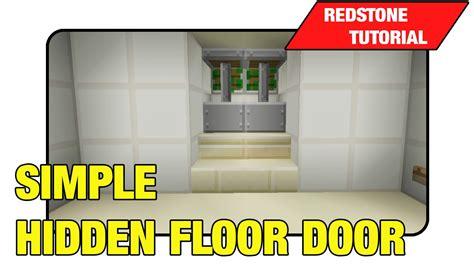 Minecraft Secret Trap Door by Simple Floor Door Two Way Trap Door Tutorial