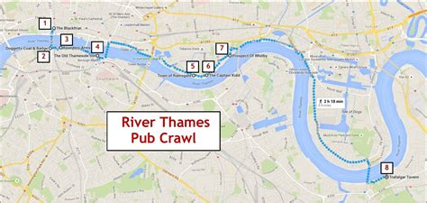 thames river map of london river thames pub crawl jetsetting fools