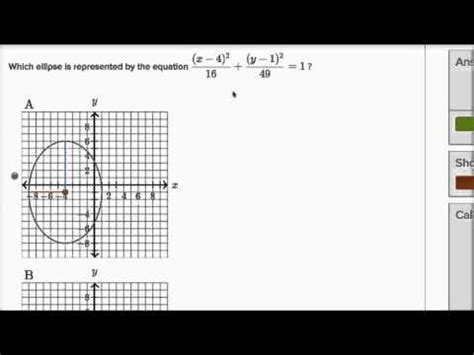 khan academy conic sections ellipse graph from standard equation video khan academy