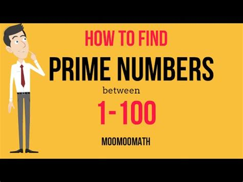 100 how do i find how to find prime numbers between 1 and 100 youtube