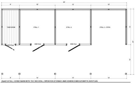 2 horse barn with feed room cheap plans single stall horse barn layout 22x42 3 stall horse barn with tack