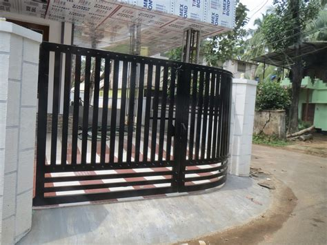 main gate design for home new models photos house gate in kerala india black colour from white loversiq