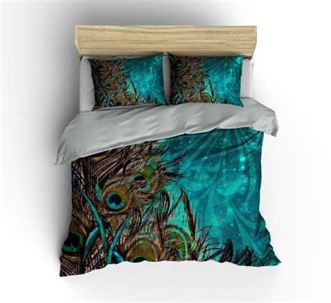 peacock bed set luxe bedding teal peacock duvet cover set peacock bedding