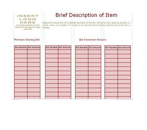 bid sheet templates franklinfire co