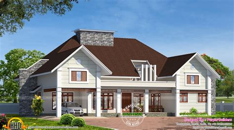 Patio Homes Floor Plans Bungalow House In Kerala Kerala Home Design And Floor Plans